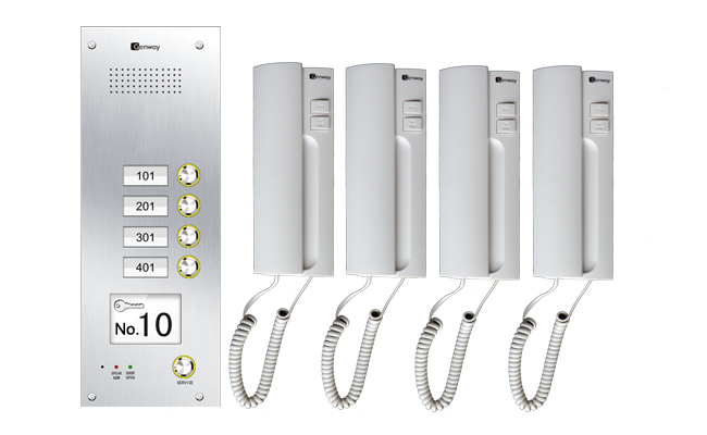 Intelligent Home Genway Audio 4 Flat Door Entry System Cat 5