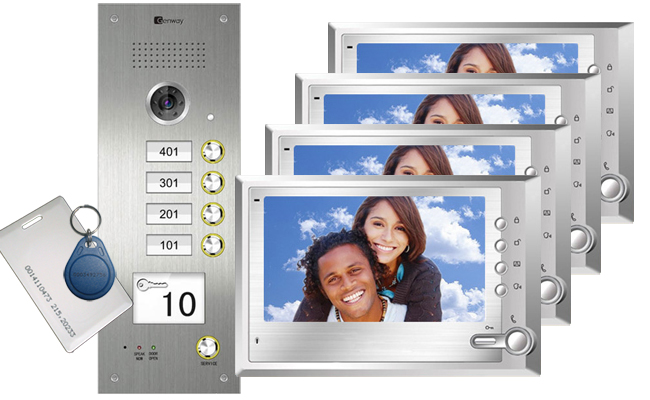 Genway Cygni 4-Flat Video Door Entry System