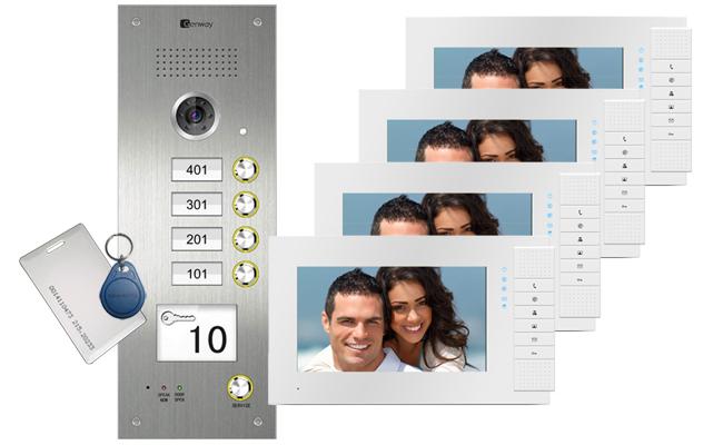 Super Genway 4 Flat Video Door Entry System Intelligent Home Online Wiring Digital Resources Otenewoestevosnl