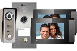 Genway Lyra Black 2-Monitor Video Door System