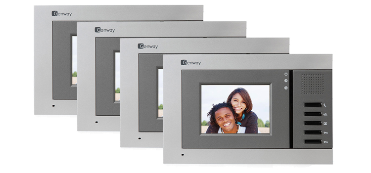 Genway Juno 4-Monitor Video Door Intercom System