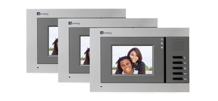 Genway Juno 3-Monitor Video Door Intercom System