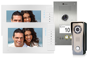 Genway Lyra White 2-Monitor Video Door System