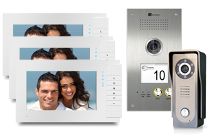 Genway Lyra White 3-Monitor Video Door System