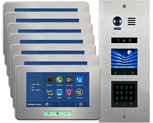 2-Easy Vosper Keypad 7-Apartment Alecto Monitors