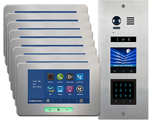 2-Easy Vosper Keypad 8-Apartment Alecto Monitors