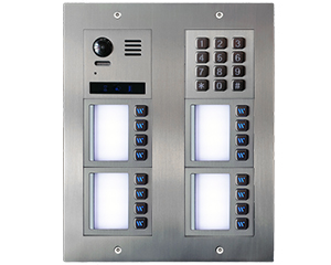 2-Easy Vulcan Keypad Direct Call 16-Apartment Video Door Entry System Bespoke