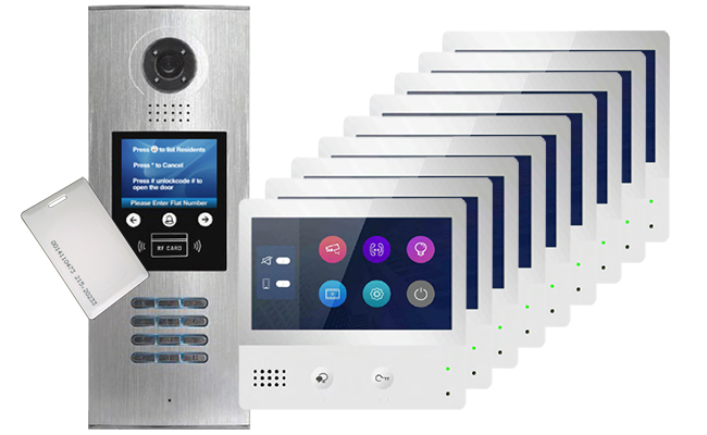 2-Easy DigiOpen IP 9-Flat Video Door Entry System