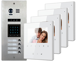 2-Easy Vosper Keypad Direct Call 4-Apartment Avro Monitors