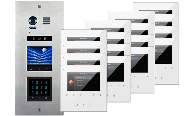 2-Easy Vosper Keypad 16-Apartment Avro Monitors