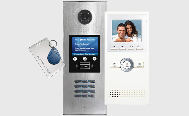K5 DigiOpen Apartment Video Door Entry System with Leda CAT5