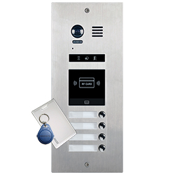 4-Button DMR21/ID/4 Apartment Door Station Proximity Reader 2-wire series