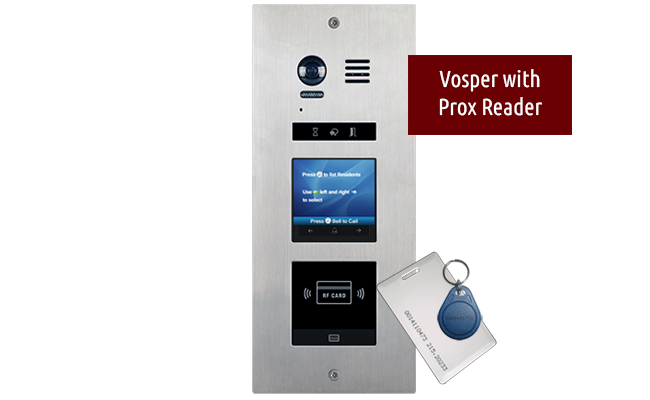 Vosper Apartment Video Door Entry System 2-wire Bespoke