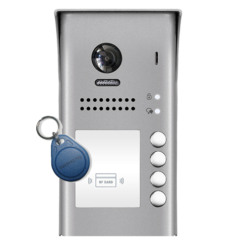 2-Easy DT607ID 4-Button Apartment Door Station Proximity Reader