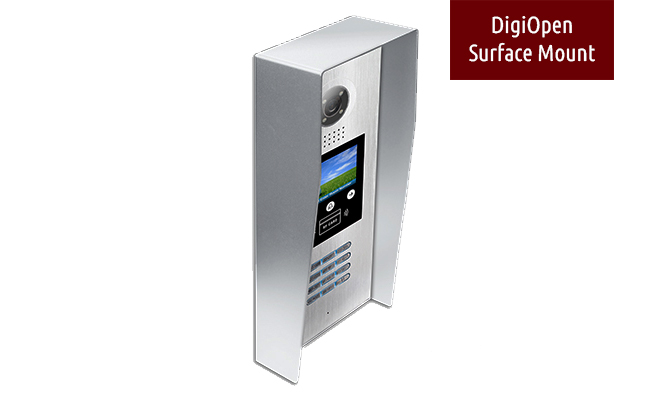 2 Easy Digiopen Surface Mount 9 Apartment Video Door Entry System