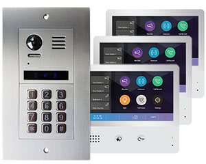 2-Easy Vulcan 3-Flat Keypad Video Door Entry System with WiFi monitors