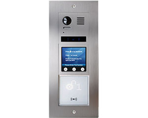 2-Easy Vulcan Touchscreen and Card Reader Apartment Video Door Entry System Bespoke