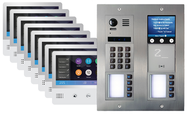 2-Easy Vulcan Touchscreen, Keypad and Proximity Reader 8-Flat WiFi Monitors Mobile App