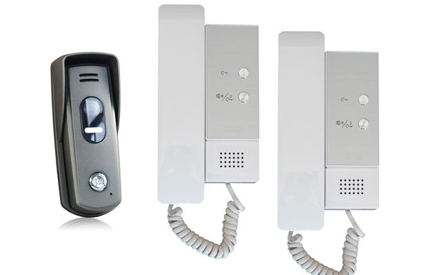 2-Audio Handsets with Surface Slim Doorbell