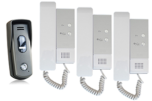 2-Easy 3-Audio Handsets with Surface Slim Doorbell