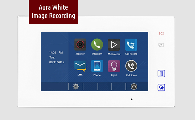 2-Easy Aura White Image Recording Video Door Intercom Bespoke