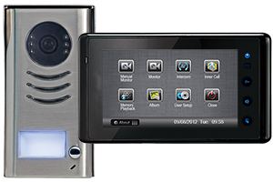 1-Monitor Kit Cronus Black Image Recording with Surface Steel Doorbell