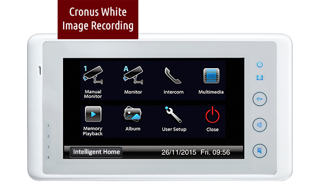 CRONUS White Bespoke Door Entry System 2 wire
