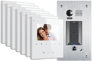 2-Easy Avro 7-Monitor Door Entry Kit Fingerprint Doorbell