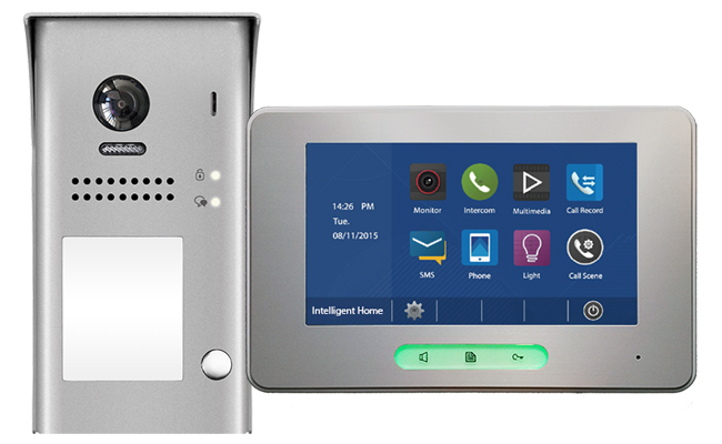 2-Easy Alecto 1-Monitor Door Entry Kit with Surface Doorbell