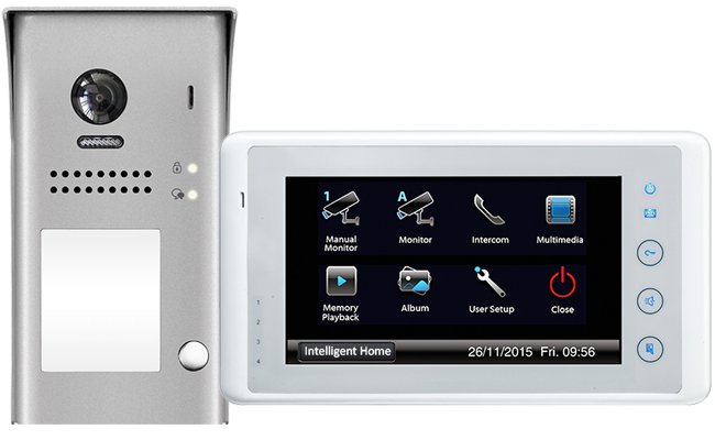 2-Easy Cronus White IR 1-Monitor Door Entry Kit Surface Doorbell
