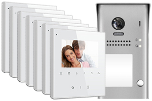 2-Easy Avro 7-Monitor Door Entry Kit Surface Doorbell