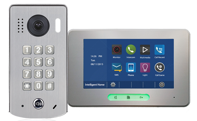 2-Easy Alecto 1-Monitor Door Entry Kit Keypad Doorbell
