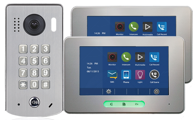 2-Easy Alecto 2-Monitor Door Entry Kit Keypad Doorbell