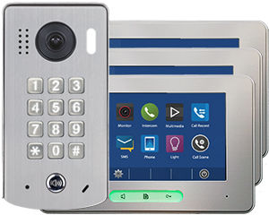 2-Easy Alecto 3-Monitor Door Entry Kit Keypad Doorbell