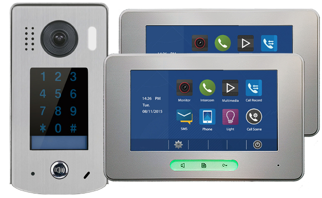 2-Easy Alecto Keypad Doorbell 2-Monitor Door Entry Kit