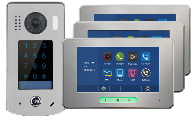 2-Easy Alecto Keypad Doorbell 3-Monitor Door Entry Kit