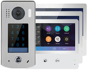 2-Easy WiFi IP 3-Monitor Door Entry Kit Keypad Doorbell