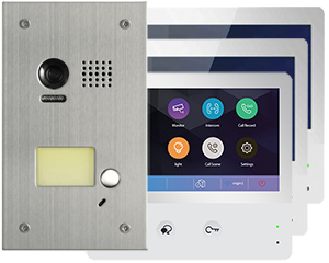 2-Easy WiFi IP 3-Monitor Door Entry Kit Flush Steel Doorbell