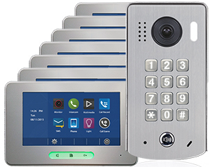 2-Easy Alecto 7-Monitor Door Entry Kit Keypad Doorbell