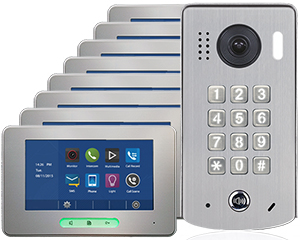 2-Easy Alecto 8-Monitor Door Entry Kit Keypad Doorbell