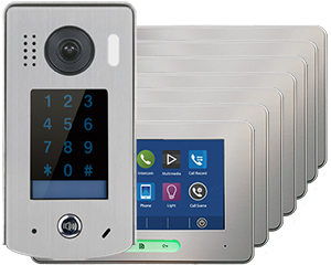 2-Easy Alecto Keypad Doorbell 7-Monitor Door Entry Kit