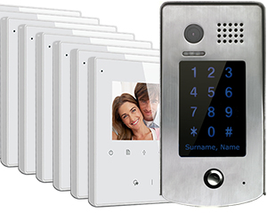 2-Easy Avro 8-Monitor Door Entry Kit Keypad Doorbell