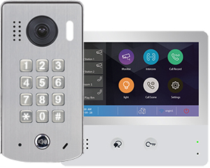 2-Easy WiFi IP 1-Monitor Door Entry Kit Keypad Doorbell