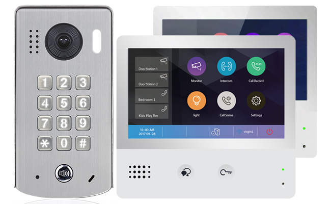 2-Easy WiFi IP 2-Monitor Door Entry Kit Keypad Doorbell
