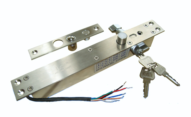 Electric Bolt Lock with Integral Key