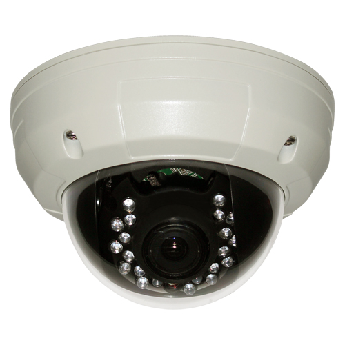 Metal Vandalproof IR Dome Camera with Manual Zoom 700TV Lines