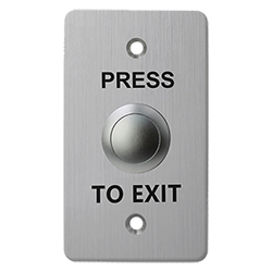 SB10B Stainless Steel Indoor Exit Button 86 x 50mm