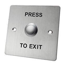 SB10 Stainless Steel Indoor Exit Button 86 x 86mm