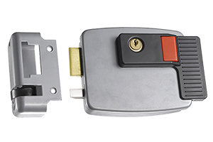 Cisa-style electric Lock with built-in Exit Button and keys