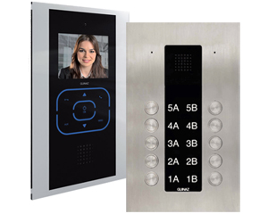 10-Apartments Alea and Tactile Video Door Entry System Black